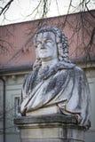 Oud Monument van Joann Sebastian Bach, Koethen Royalty-vrije Stock Afbeeldingen