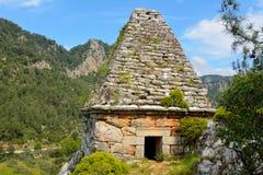 Oud monumentaal graf die van Hellenistic-periode in Turgut dateren stock foto