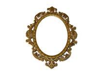 Oud mooi gouden frame stock fotografie