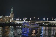 Oud Moskou, de mening van Moskou het Kremlin stock foto