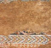 Oud mozaïek in Dion, Griekenland Stock Fotografie