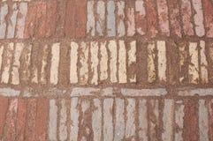 Oud mozaïek op de vloer van de rechthoekige blokken Royalty-vrije Stock Foto
