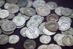 Oud muntstuk royalty-vrije stock afbeelding