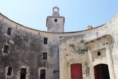 Oud Museum van steen in Antibes Frankrijk stock afbeeldingen