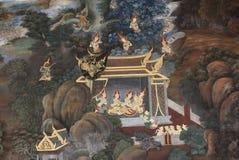 Oud muurschilderij van engelen Stock Fotografie