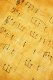 Oud muziekblad Royalty-vrije Stock Fotografie
