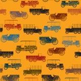Oud naadloos auto'spatroon Stock Afbeelding