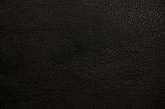 Oud natuurlijk donker zwart grungepatroon, grungy korrelachtergrond van de leertextuur, horizontale geweven macroclose-up Stock Fotografie