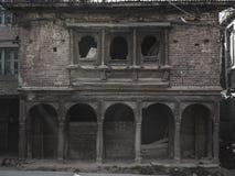 Oud newarihuis royalty-vrije stock afbeeldingen