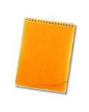Oud notaboek op wit Stock Afbeelding