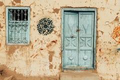 oud Nubian-huis stock fotografie