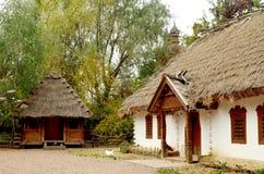 Oud Oekraïens dorp royalty-vrije stock afbeelding
