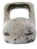 Oud ontsierd metaalgewicht Stock Afbeeldingen