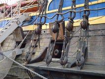 Oud oorlogsschip Royalty-vrije Stock Foto's