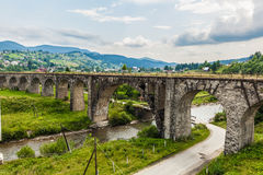 Oud Oostenrijks brugviaduct Stock Foto