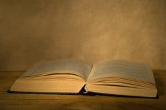 Oud open boek. Royalty-vrije Stock Foto's