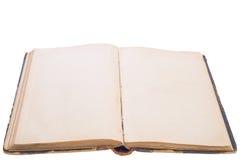 Oud open boek. Stock Afbeeldingen