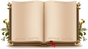 Oud open boek royalty-vrije illustratie