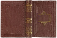 Oud open boek 1900 Royalty-vrije Stock Fotografie
