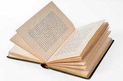 Oud open boek Stock Fotografie