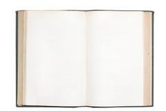 Oud open boek met geïsoleerdei blanco pagina's Royalty-vrije Stock Afbeelding