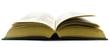 Oud open woordenboek Royalty-vrije Stock Foto's