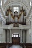 Oud orgaan van Kathedraal van Solothurn zwitserland Stock Fotografie