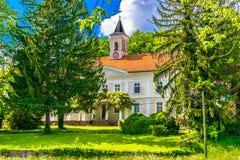 Oud oriëntatiepunt in Bezanec, kasteel royalty-vrije stock foto