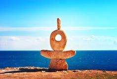 Oud Oriëntatiepunt van landtong Tarhankut in de Krim stock fotografie