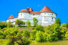 Oud oriëntatiepunt in Zagorje-gebied, Noordelijk Kroatië stock foto's