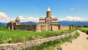 Oud orthodox Klooster complex van Alaverdi Orthodox klooster in Kakhetia in Oostelijk Georgi? stock footage