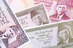 Oud Pakistaans geld, een achtergrond stock afbeeldingen