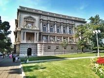 Oud paleis in Belgrado Stock Foto
