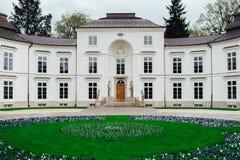Oud paleis en parkensemble van Lazienki in Warshau Royalty-vrije Stock Afbeelding