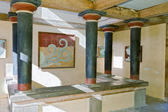 Oud paleis Knossos in Kreta, Griekenland royalty-vrije stock afbeelding