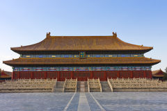 Oud paleis van Peking, China Stock Afbeelding