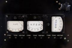 Oud paneel op een elektronikahardware Stock Foto