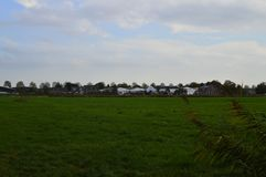 Oud park buiten Amsterdam stock afbeeldingen