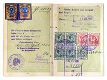 Oud Paspoort Stock Afbeeldingen