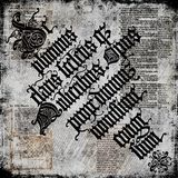 Oud Perkament 2 van de Tekst - Grungy achtergrond Royalty-vrije Stock Foto