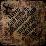 Oud Perkament 4 van de Tekst - Grungy achtergrond Royalty-vrije Stock Afbeelding