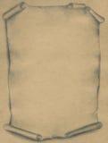 Oud perkament - potlood stock illustratie