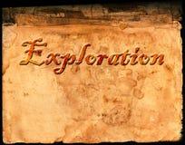 Oud Perkamentdocument met Word Exploratie Royalty-vrije Stock Afbeeldingen