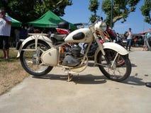 Oud Peugeot 125cc, Motorfiets Stock Afbeelding