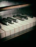 Oud pianotoetsenbord Stock Fotografie