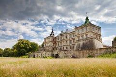 Oud Pidhirtsi-Kasteel, dichtbij Lviv, de Oekraïne stock foto's