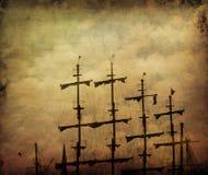 Oud piraatschip Royalty-vrije Stock Foto's