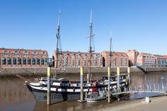 Oud piraatschip in Bremen, Duitsland Stock Fotografie