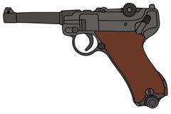 Oud pistool stock illustratie
