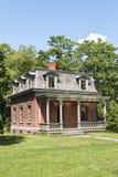Oud Plattelandshuisje bij Behaaglijke Haven in Staten Island, NYC royalty-vrije stock foto